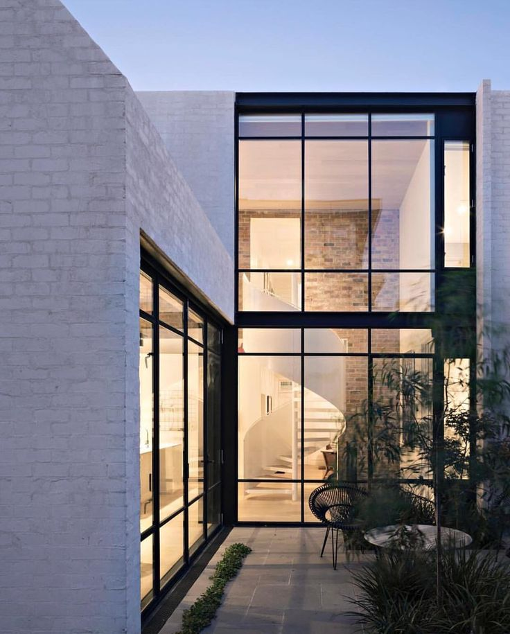 Design Interiors Architecture (@thelocalproject) on Instagram: Dreamy windows & exterior Richmond House by Inglis Architects.