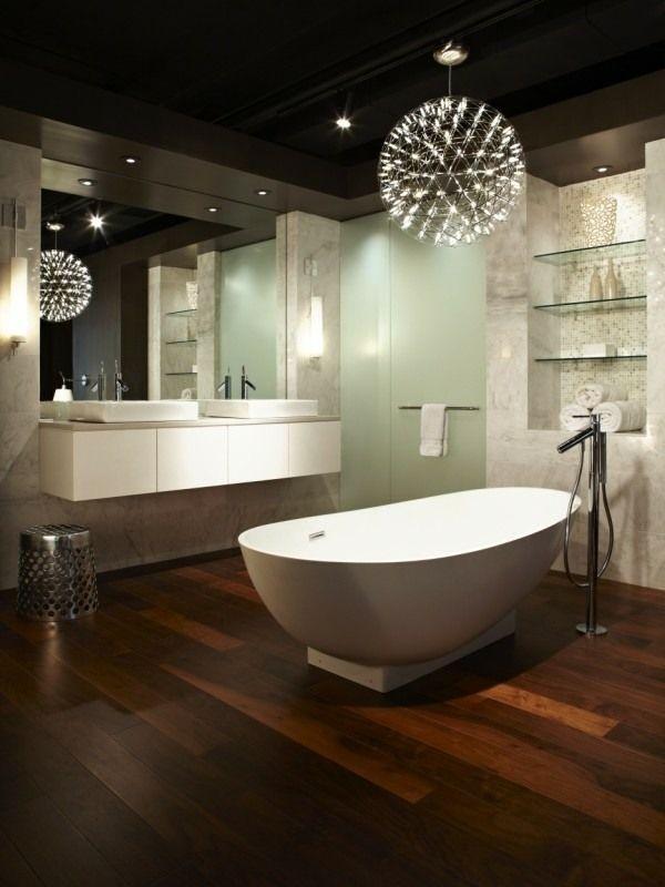 Lampen Badezimmer Decke In 2020 Bathroom Chandelier Modern Bathroom Design Modern Bathroom Light Fixtures
