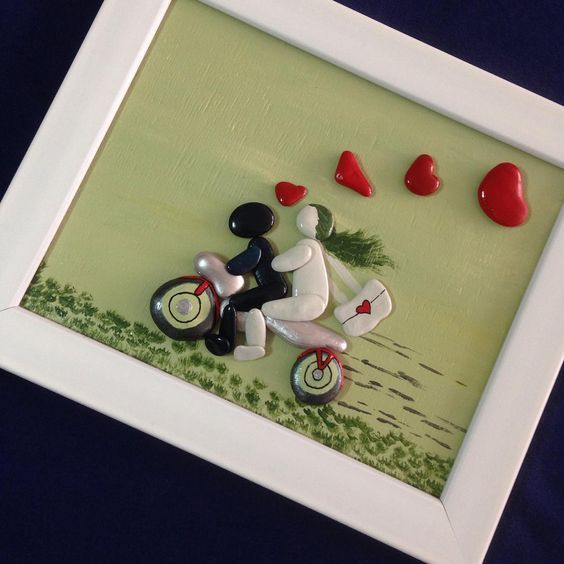 17 best images about creative diy ideas for pebble art for Arts and crafts ideas for couples