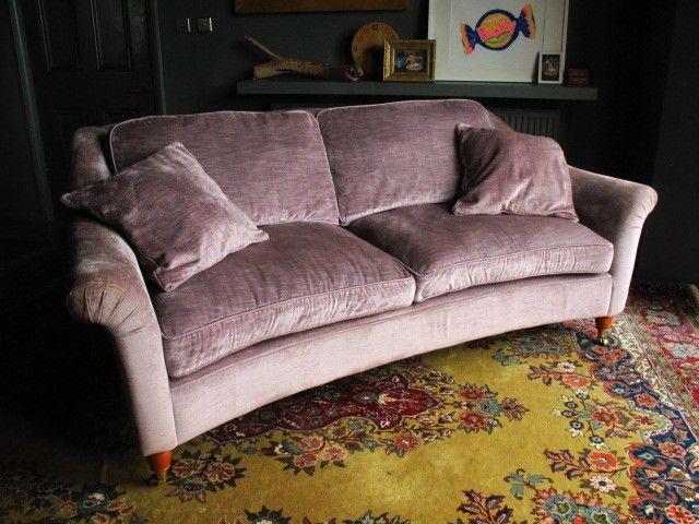 Laura Ashley Velvet 39 Reigate 39 Sofa Plush Curved Elegant