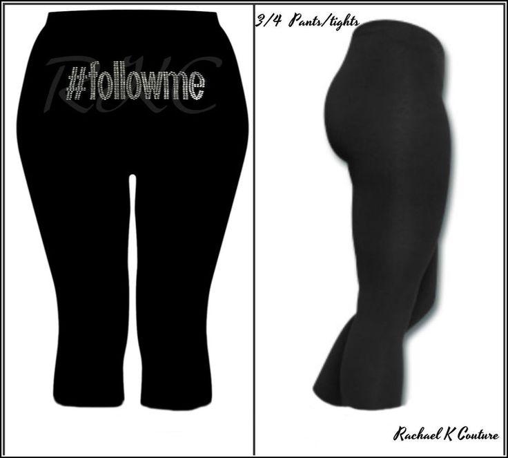 Sexy Plus Size Women's Long Ankle Gym Wear Pants Tights Black Rhinestone 8-24