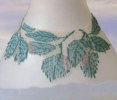 necklace birch leaves