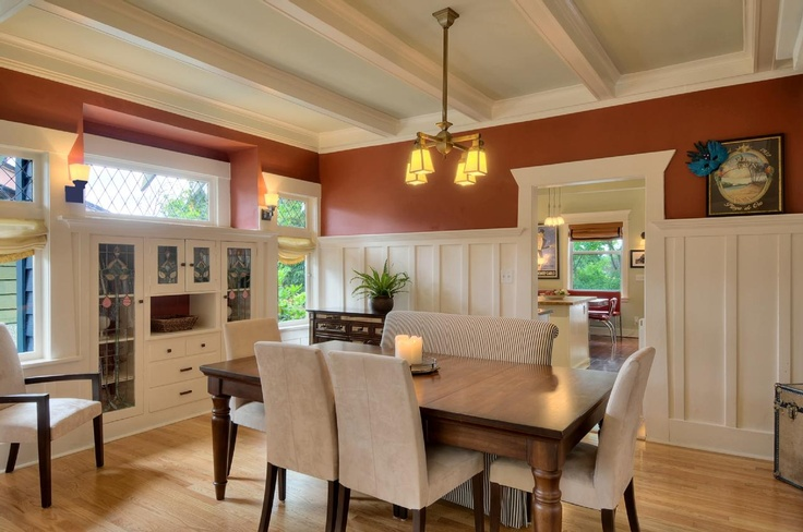 Box beam ceilings ~ love the craftsman style