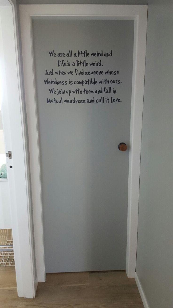 Toilet door.