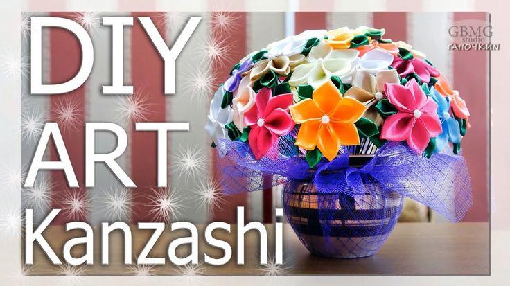 Канзаши. Большой подарочный букет из цветов.  Рукоделие. МК. DIY. Hand Made. Art.