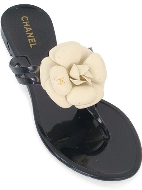 Chanel Shoes Black Jelly Tangas Camelia Shoes Shoes