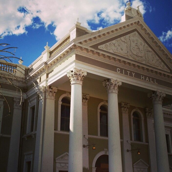 Beautiful old buildings in Kimberley build during the diamond rush. Love South Africa!