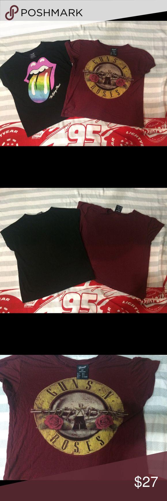 Two band shirts Brand bravado The Rolling Stones US 9/10 Guns N' Roses US S Bravado Tops Tees - Short Sleeve