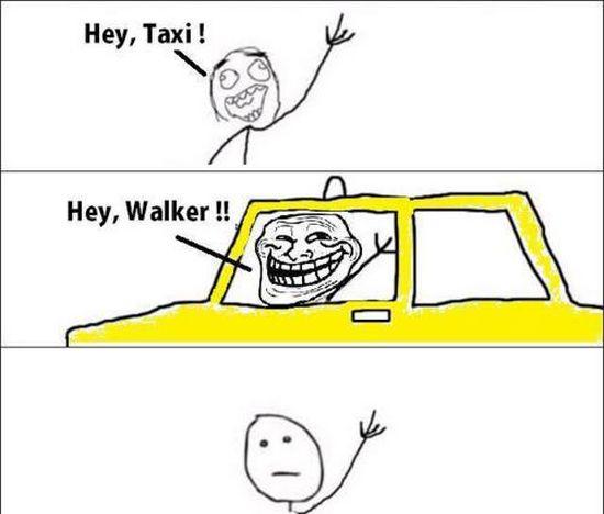 Ein Taxi-Meme