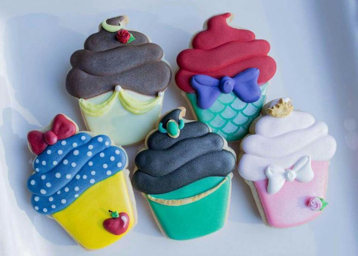 Red Cottage Cookie Company.  Cupcakes inspired by Disney Princesses! ♡