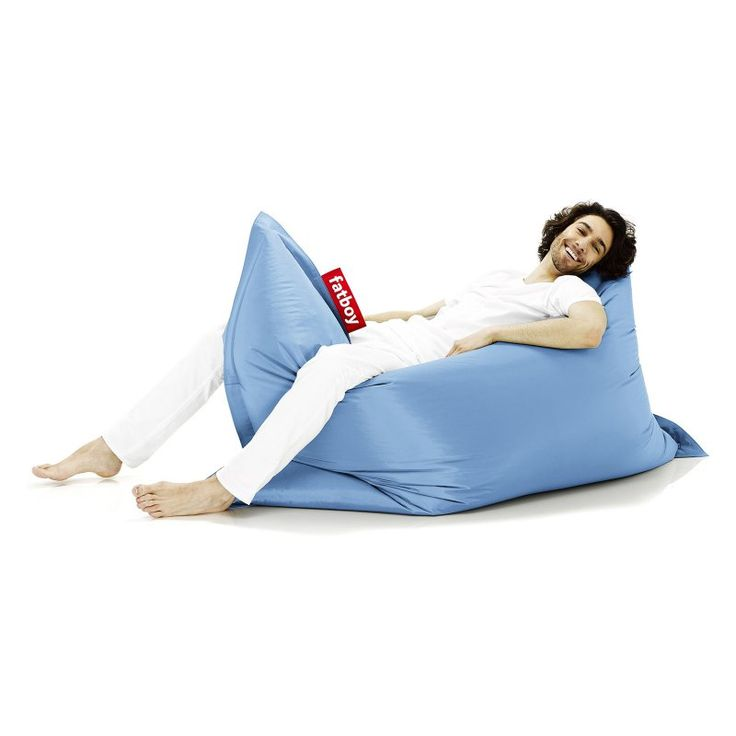 Fatboy Original 6-Foot Extra Large Bean Bag Chair Ice Blue - ORI-ICBLU