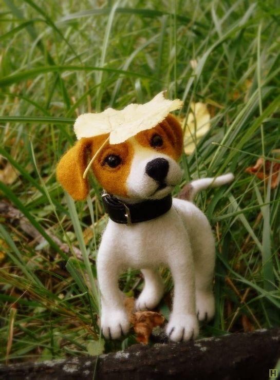 Джек рассел для примера купить недорого в интернет магазине товаров ручной работы  HandClub.ru  Маленький щенок джек рассел)