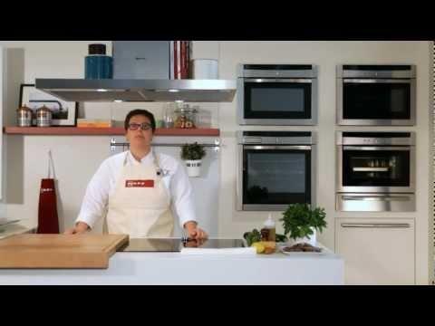 CookingPassion: Calamaretti al vapore su vellutata di zucchine #ricette #Neff #cookingpassion