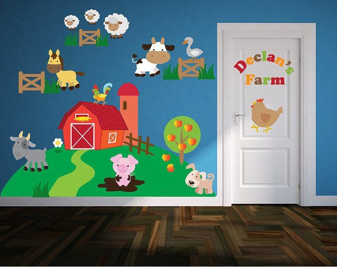 Wall Decals for Kids Bedroom - Farm Animal Wall Decals ...