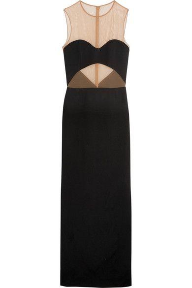 Майкл Корс Коллекция | стрейч сетка-филенчатые креп платье | NET-A-PORTER.COM