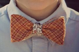 Tutorial: Retro, skinny, or reversible bow tie variations, plus how to resize the pattern