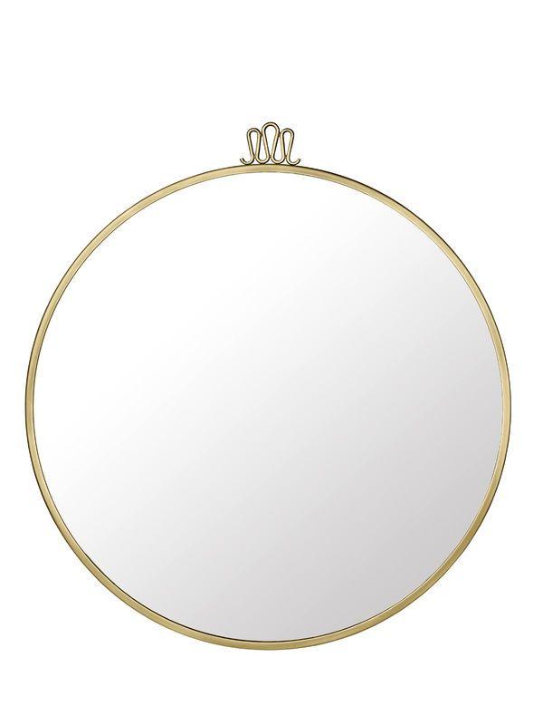 GUBI // Randaccio mirror in antique brass and Ø70 cm by Gio Ponti
