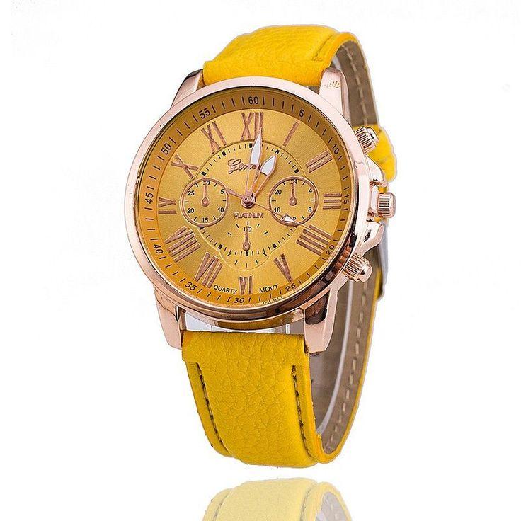 Geneva Watches Women Leather Strap Casual Quartz Watches Relogio Feminino Montre
