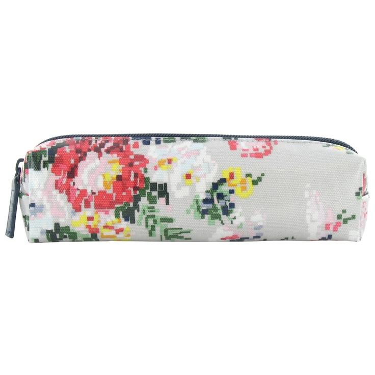 pixel floral square pencil case