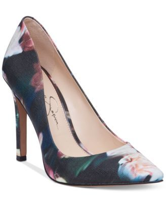 """You'll fall in love with the pretty, pointed style of the Cassani pumps by Jessica Simpson. 