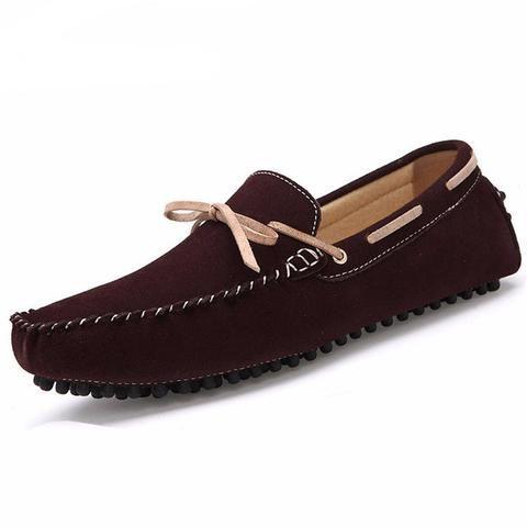 Mode Hommes Mocassins Respirant action Chaussures en cuir Flats hommes d'été Printemps Souliers simple pour homme Sapatos,jaune,42