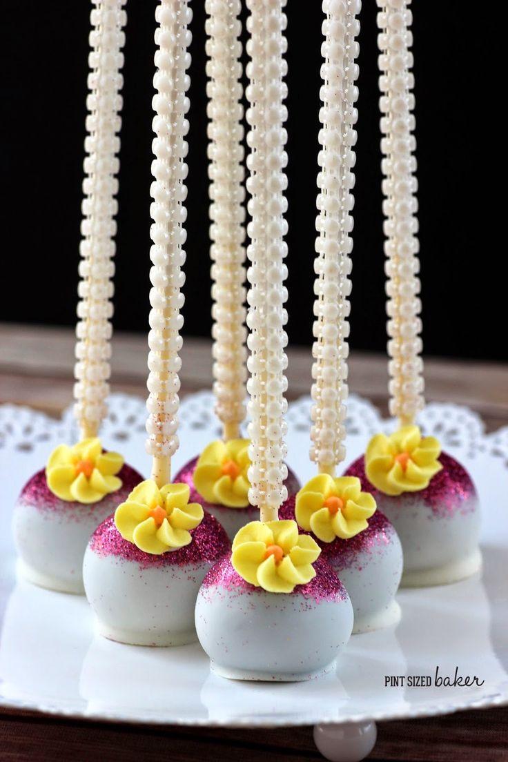 Pint Sized Baker: How to Make Glitter Topped Cake Pops