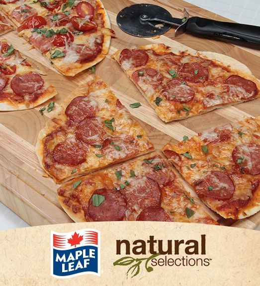 Super Speedy Pepperoni Pizza #NaturalSelections @Maple Leaf®