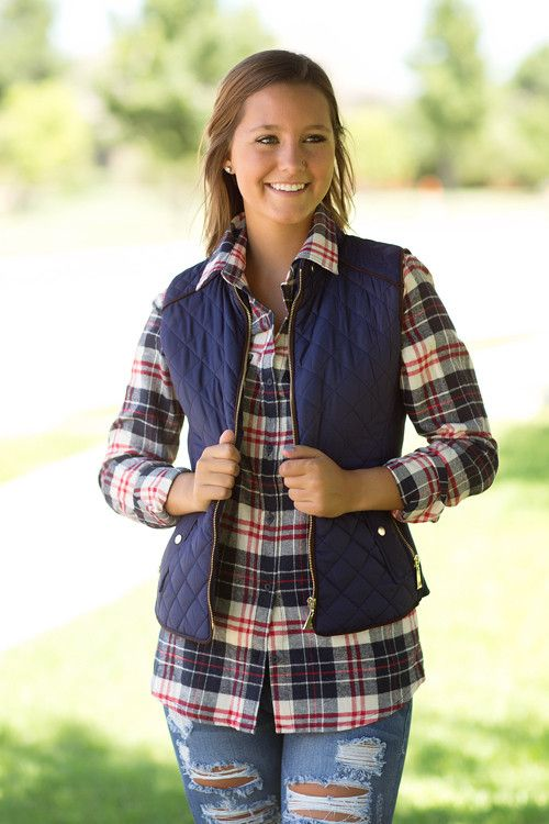 Fall Fashion, OOTD, Fall Vest, Quilted Vest, Navy Vest- Just Chill'in Vest-Navy by Jane Divine Boutique www.janedivine.com