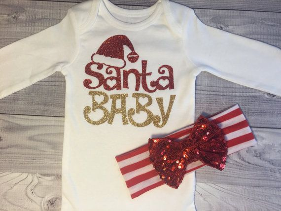 Christmas baby girl clothes girls outfit baby by SweetnSparkly