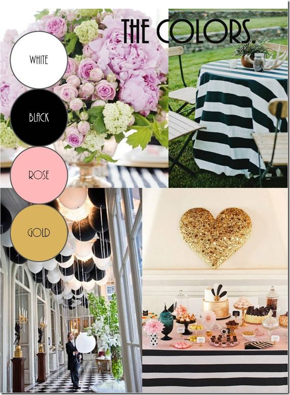 Black And White Wedding And Maybe Gold Or Silver Like The Balloons