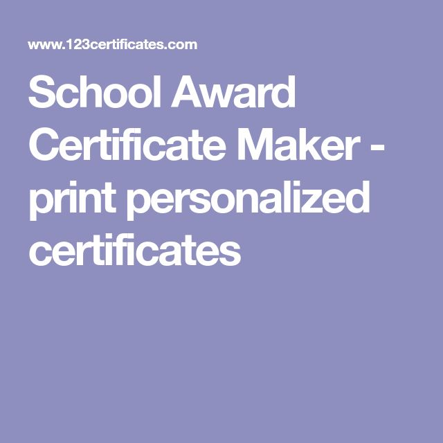 custom award certificates