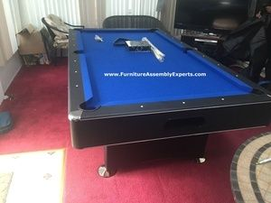 amazon billiard pool table assembled in manhattan NY by Furniture Assembly Experts LLC