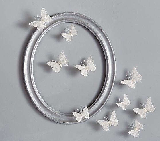 White Feather Butterflies Set | Pottery Barn Kids