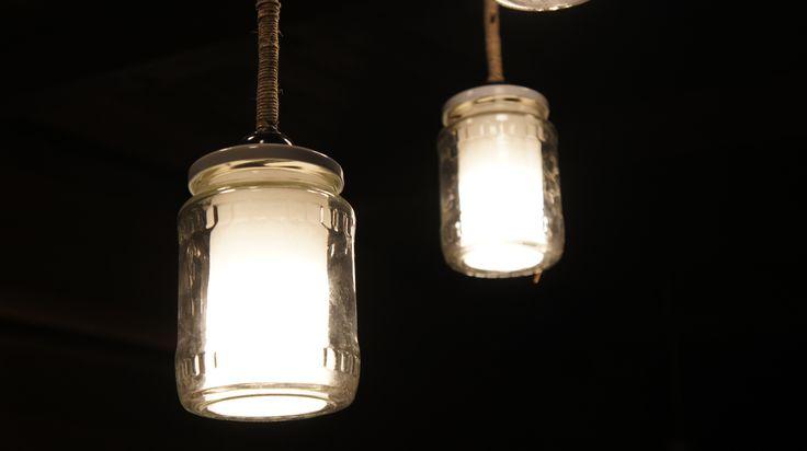 Befőttes üveg lámpa, Jar lamp