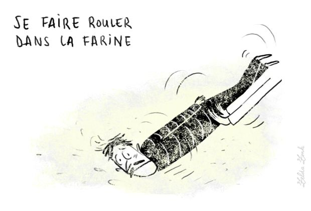 Se faire rouler dans la farine : se faire tromper, duper | Photo: Zelda Zonk @ TV5MONDE. http://www.tv5.org/TV5Site/publication/galerie-327-13-Se_faire_rouler_dans_la_farine_se_faire_tromper_duper.htm