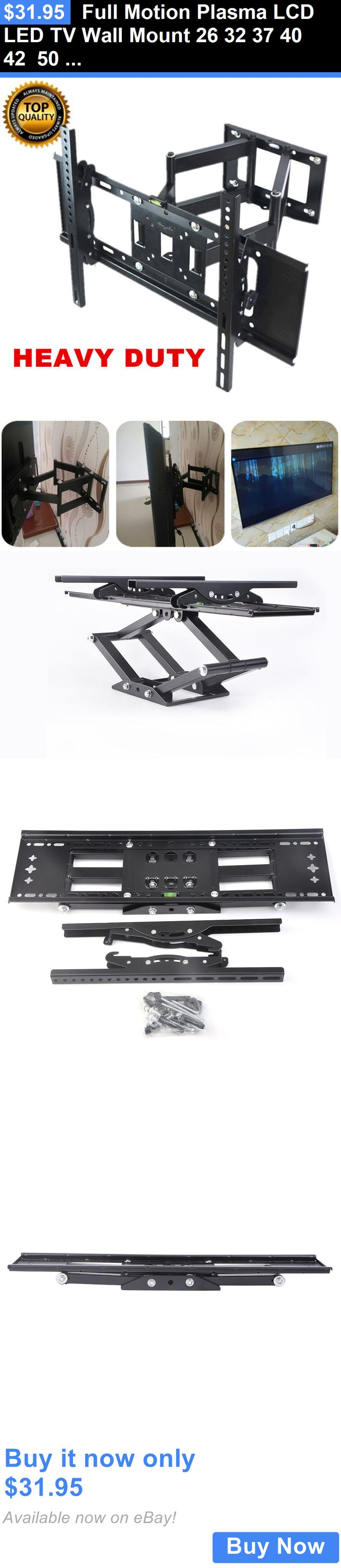 TV Mounts and Brackets: Full Motion Plasma Lcd Led Tv Wall Mount 26 32 37 40 42 50 52 55 60 65 70 Uub BUY IT NOW ONLY: $31.95