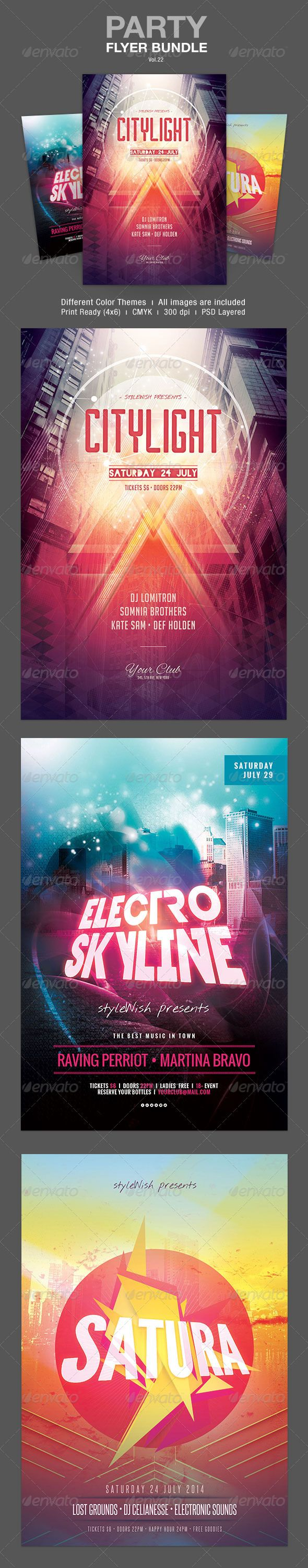 Party Flyer Bundle Template PSD | Buy and Download: http://graphicriver.net/item/party-flyer-bundle-vol22/8020075?WT.ac=category_thumb&WT.z_author=styleWish&ref=ksioks