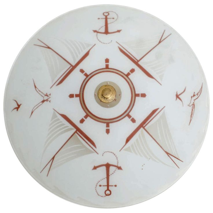 Signed Moe Nautical Flush Mount Ceiling Fixture | From a unique collection of antique and modern flush mount at https://www.1stdibs.com/furniture/lighting/flush-mount-ceiling-lights/