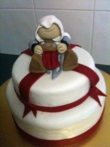 My partner's sister-in-law made this awesome Assassin's Creed cake, so cool!