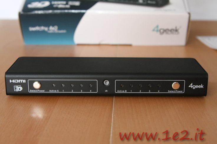 http://www.1e2.it/4geek-switchy-4x2-3d-hdmi-recensione-opinioni/ 4Geek Switchy 4×2 3D è uno switch HDMI professionale con telecomando che permette di collegare fino a quattro periferiche contemporaneamente a due televisori o impianto Hi-Fi. In questa recensione ne sveleremo le caratteristiche. La confezione comprende oltre allo switch HDMI, un mini telecomando IR, un alimentatore da 5V, un manuale di istruzioni e una guida rapida ai collegamenti oltre che...