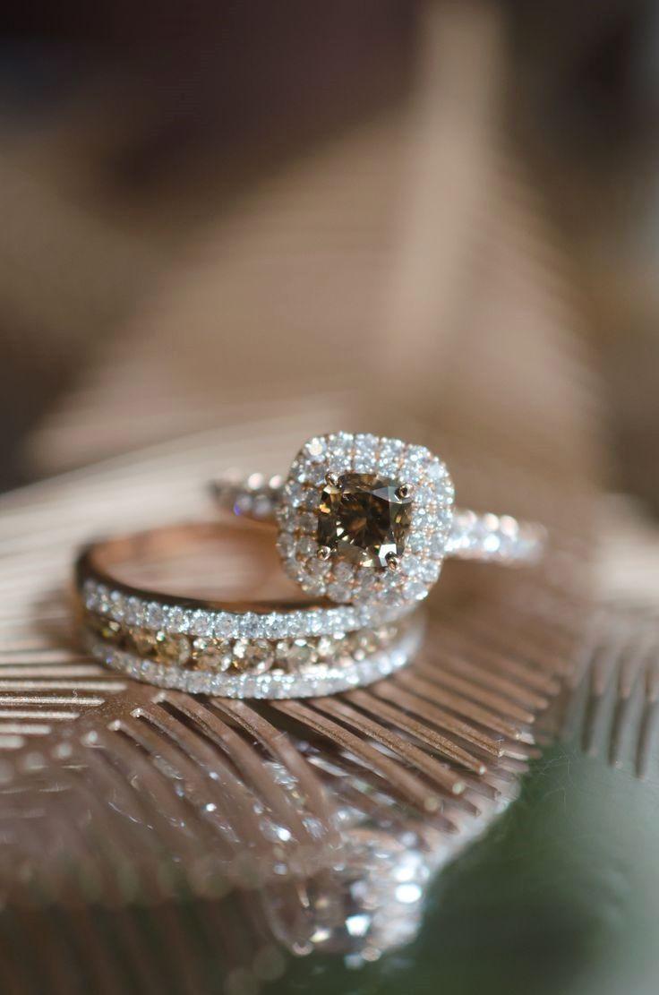 Chocolate diamond rings #fineweddingrings #weddingring