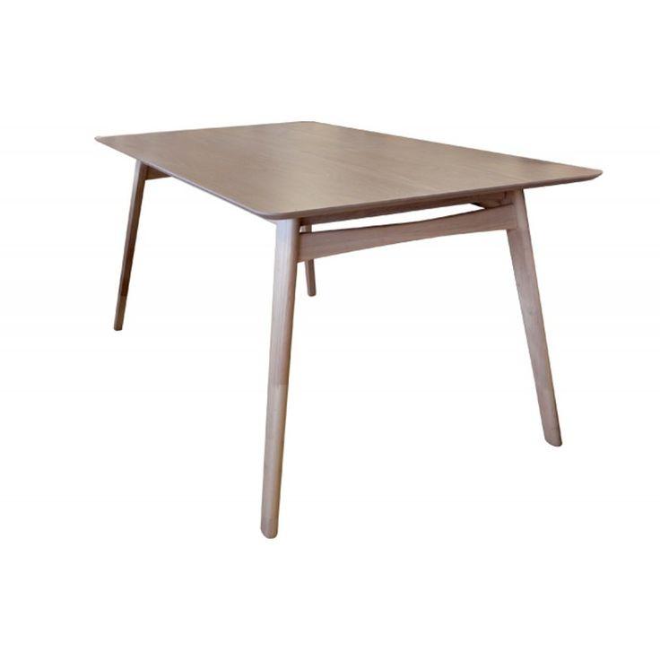 Wooden table Dorris MDF white wash 150x95x75