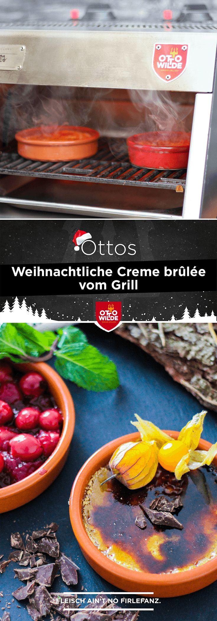 Nachtisch vom Grill: Otto hat für Dich eine weihnachtliche Crème brûlée gezaubert. Eine Schoko-Lebkuchen Masse wird auf dem O.F.B. karamellisiert und macht Dich zum Star des Heiligabends