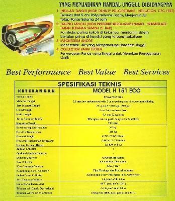 solahart merupakan produk standar untuk rumah tangga, salon, hotel dan lain seba- gainya. Terdiri dari berbagai tipe dan kapasitas sesuai kebutuhan Anda. CV. TEGUH MANDIRI TECHIC Tlp  : (021)99001323  Hp  : 0878777145493  Hp  : 081290409205 Email : cv.teguhmandiritechnic@yahoo.com http://teguhmandiritechnic.webs.com
