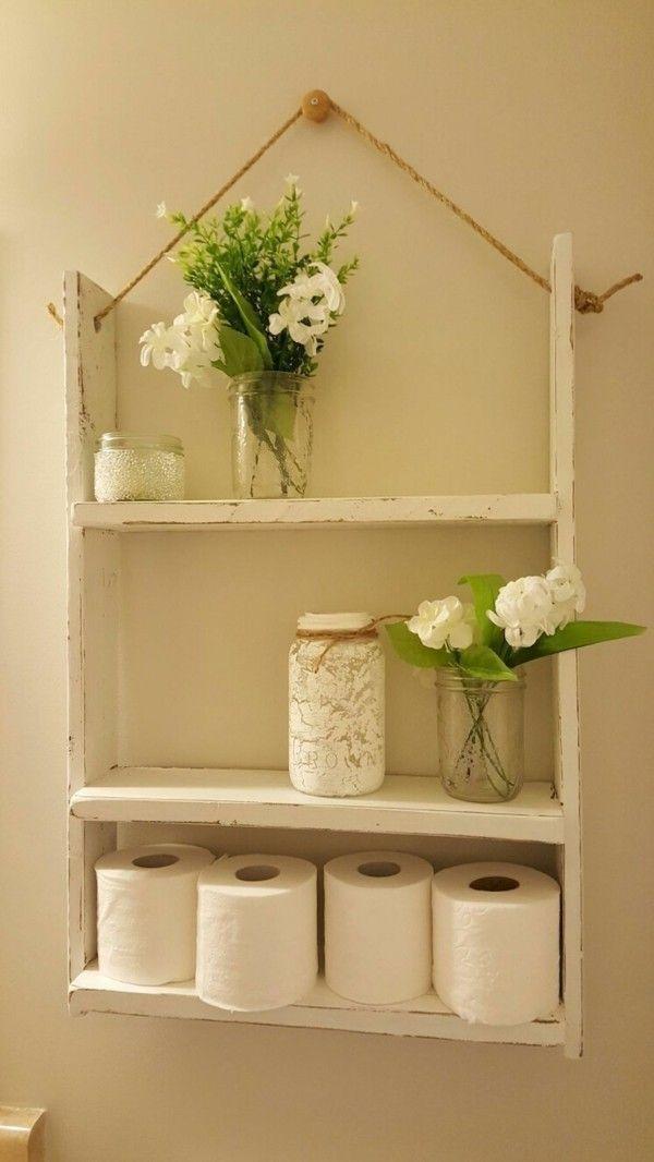 Ideas de baño para baños pequeños listones de madera estante de madera baños