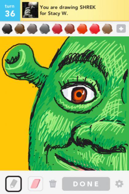Shrek drawing from Draw Something