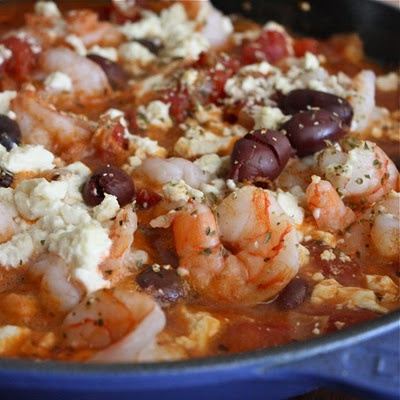 Baked shrimp with feta and tomatoes | Seafood | Pinterest