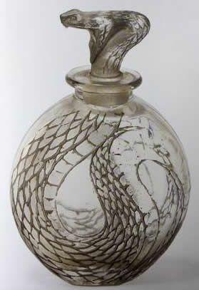 Rene Lalique Perfume Bottle Serpent, circa 1920