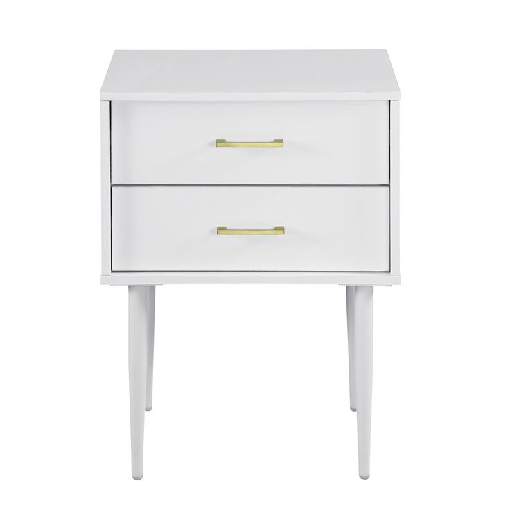 Walker Edison 20 Two Drawer Side Table White Reviews Home Macy S White Side Tables End Tables With Storage Side Table With Storage