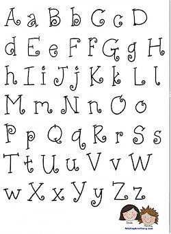 abecedario para bordado o escritura